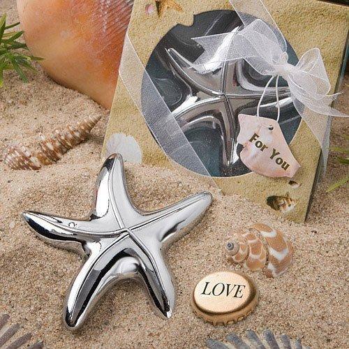 Silver Starfish Bottle Opener Beach Wedding Favors