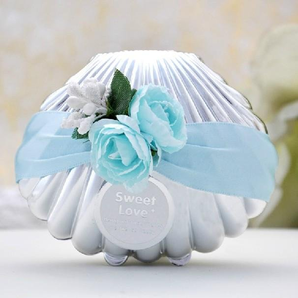 Conch Beach Wedding Favor Box