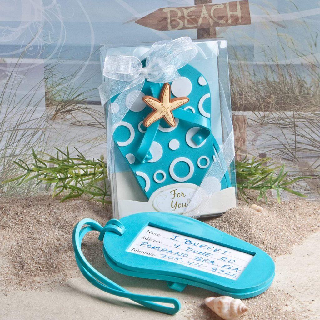 Flip Flop Luggage Tag Beach Wedding Favors