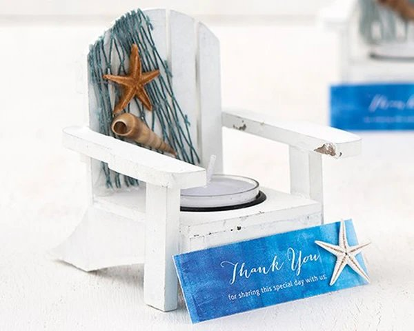 Beach Chair Candle Holder Wedding Favors