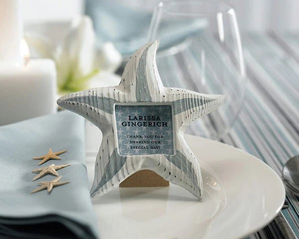 Wooden Starfish Photo Place Card Holder Favors