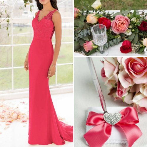 Pink and Red Wedding Color Scheme Ideas