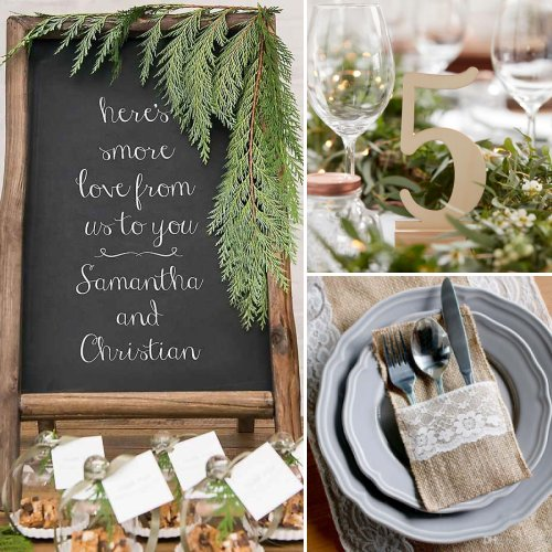 Rustic Neutral Wedding Color Scheme