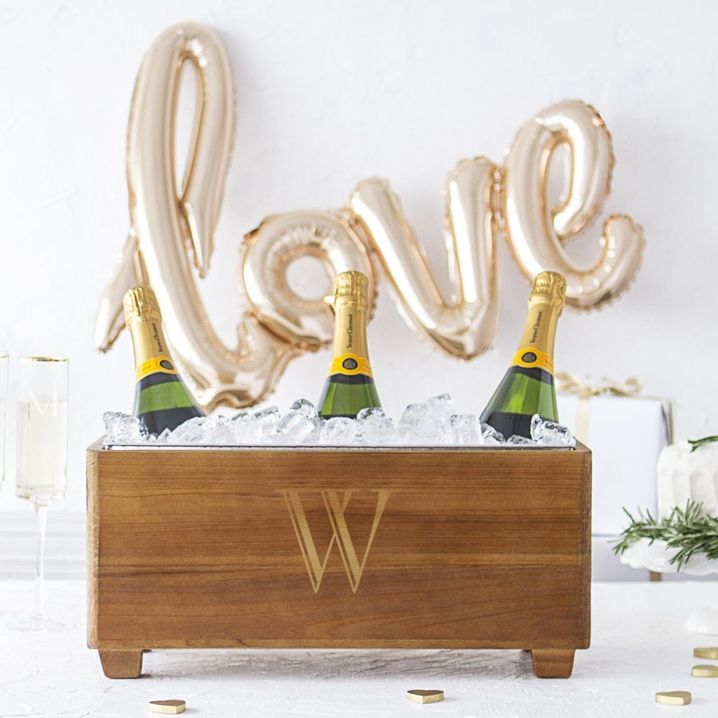 Personalized Wooden Wine Through Slumber Party Bridal Shower Gift Idea