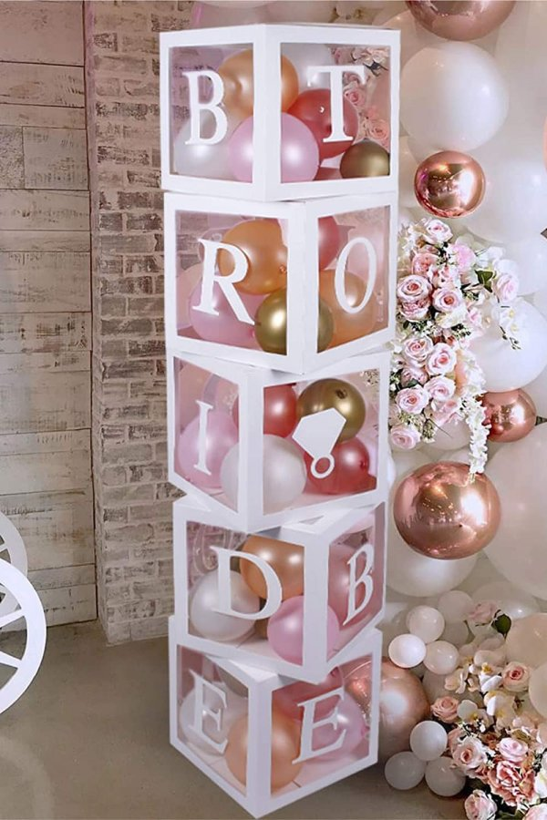 Slumber Party Bridal Shower Bride-to-be Balloon Box Decorations