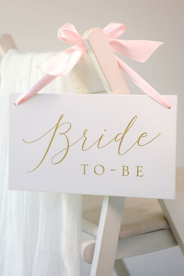 Bride To Be Wooden Sign With Ribbon Slumber Party Bridal Shower Theme