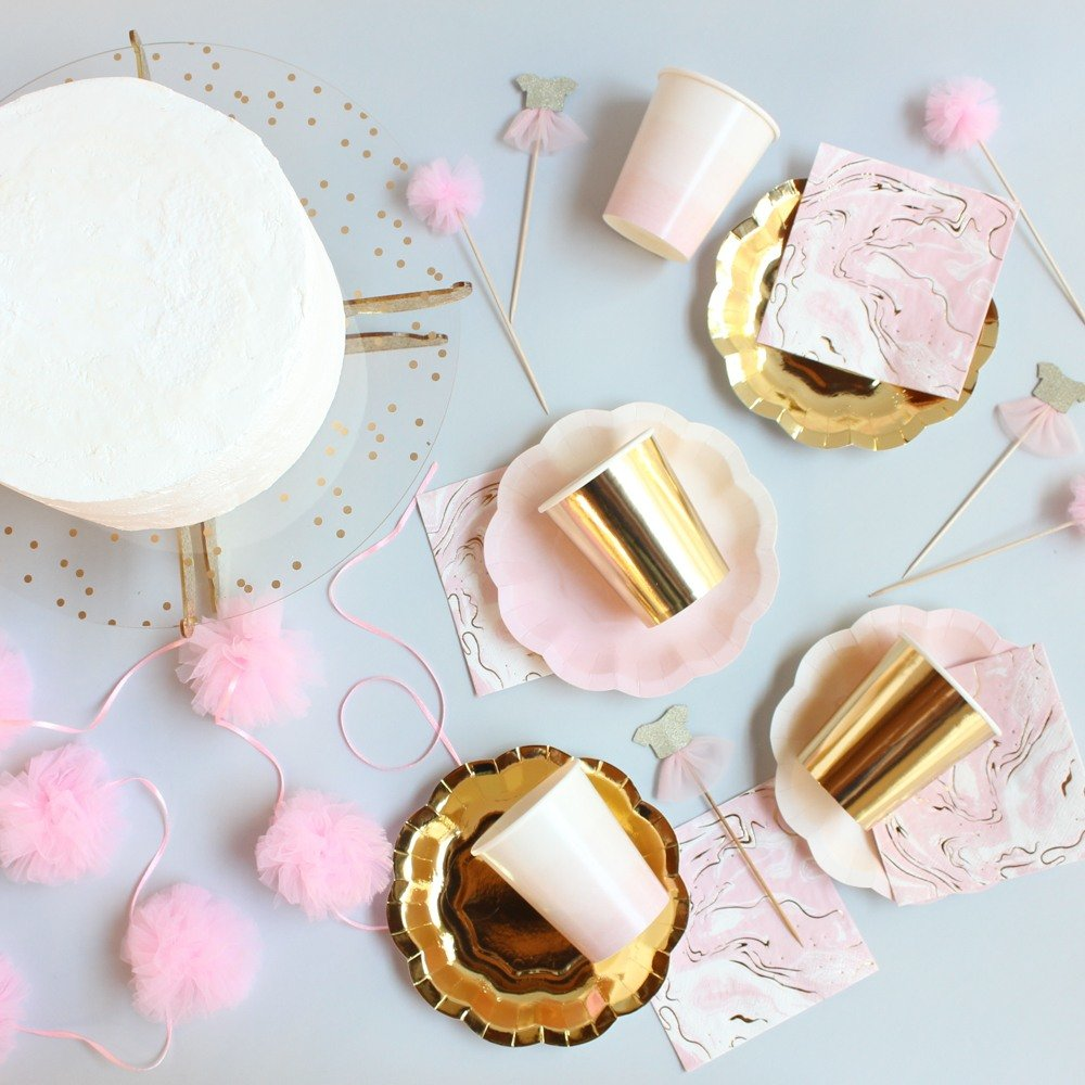Sleepover Party Bridal Shower Theme Pink & Gold Dessert Kit