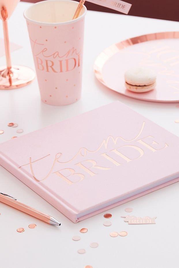 Team Bride Velvet Bridal Shower Guest Book