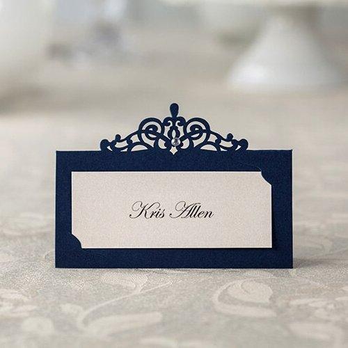 Dark Blue Place Cards