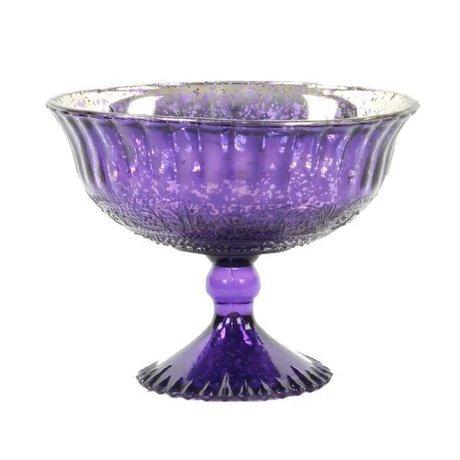 Small Antique Glass Compote Bowl Pedestal Wedding Centerpiece
