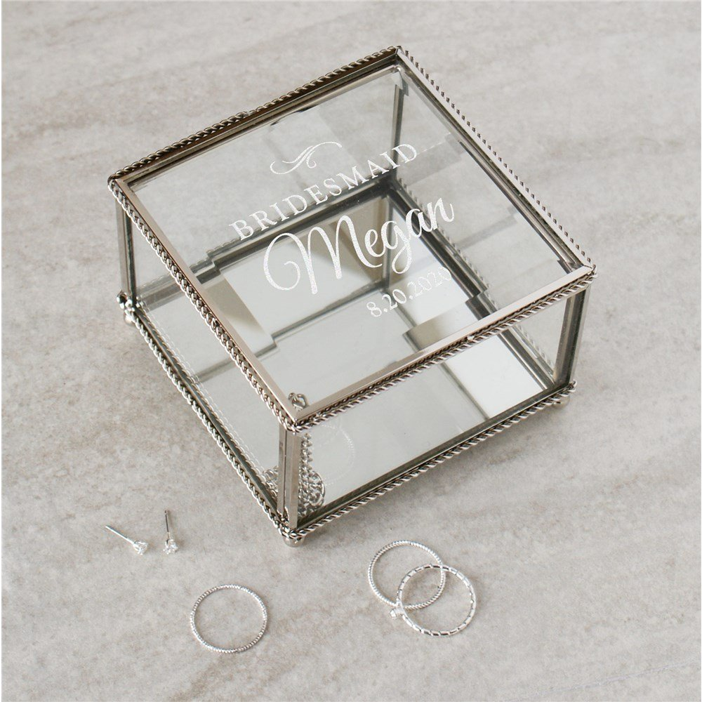 Engraved Jewelry box Bridal Shower Gift Idea