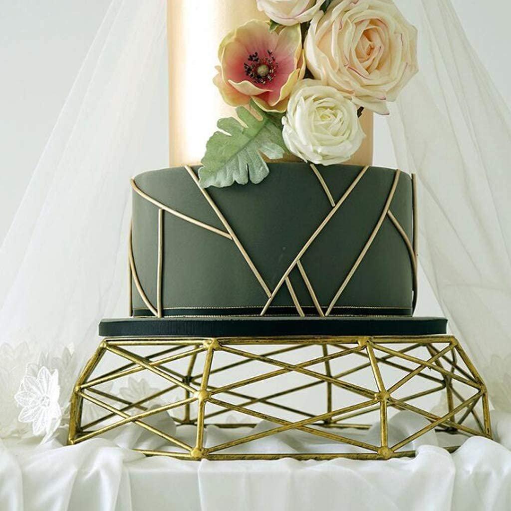 Modern Gold Geometric Wedding Cake Stand
