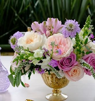 Whimsical Shades Of Purples Wedding Flower Collection