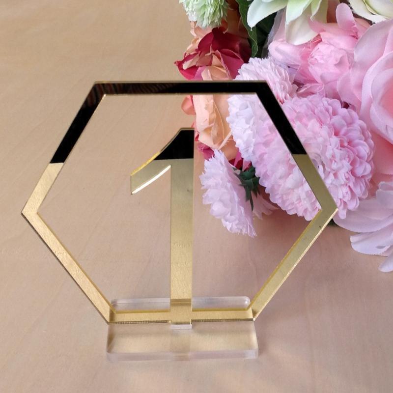 Modern Geometric Wedding Table Numbers