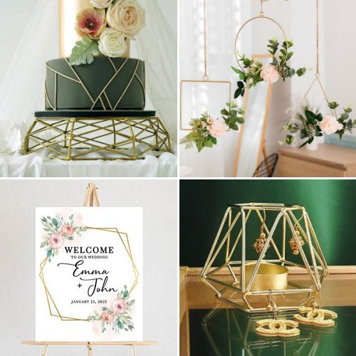 Modern Geometric Wedding Theme