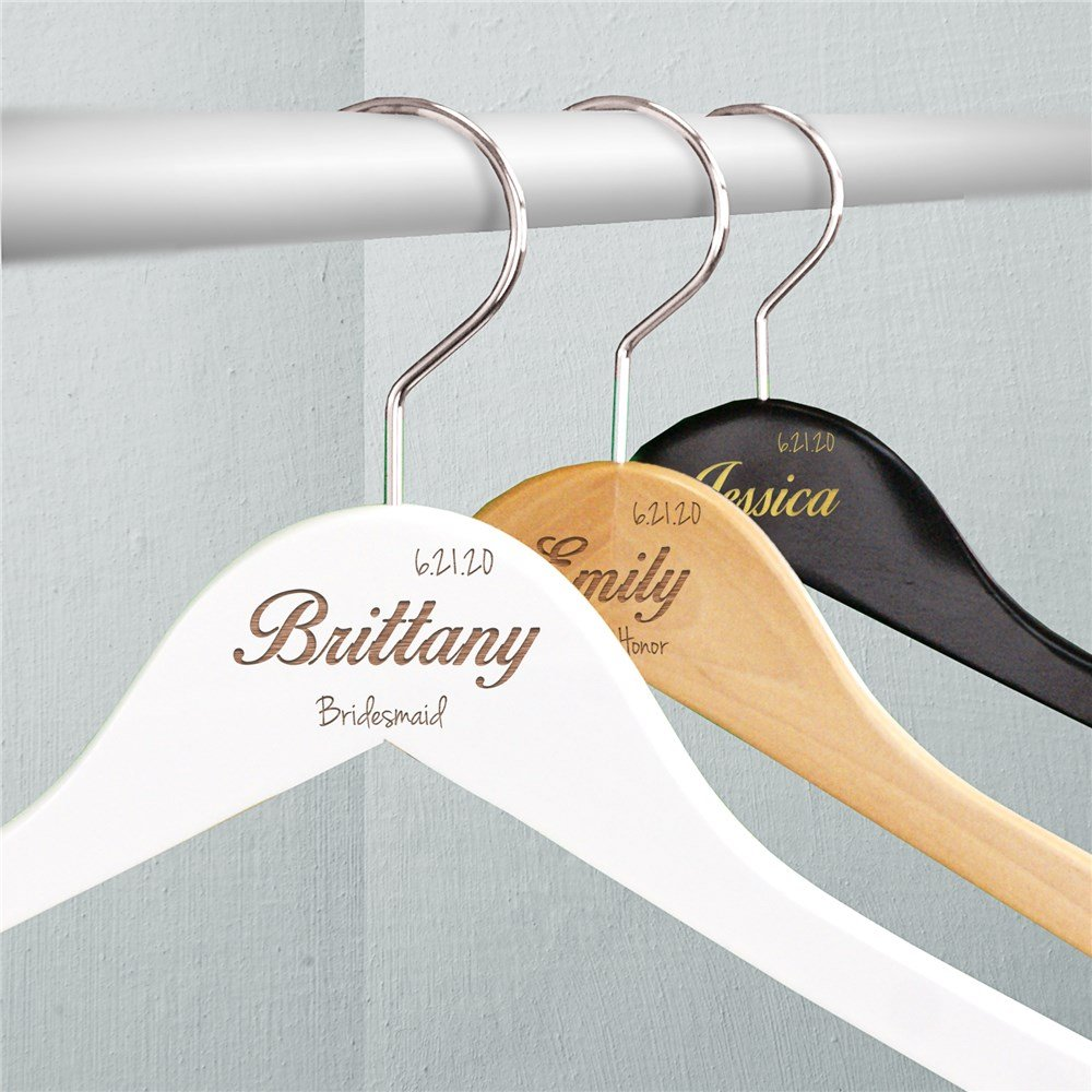 Personalized Wooden Hangers Bridal Shower Gift Ideas
