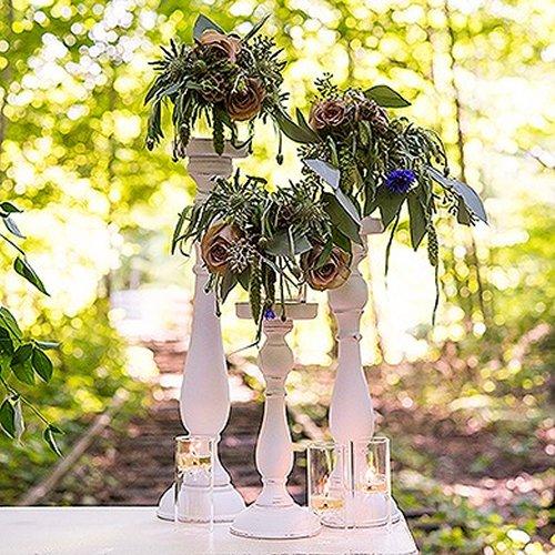 Vintage Inspired Intimate Backyard Wedding Spindle Candle Holder Decoration Ideas