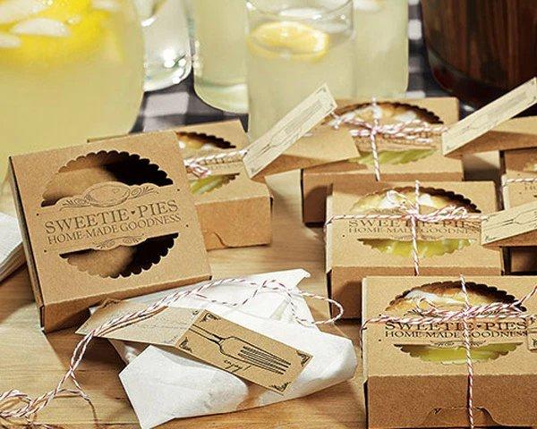 Mini Pie Packaging Kit Vintage Intimate Backyard Wedding Favor Idea