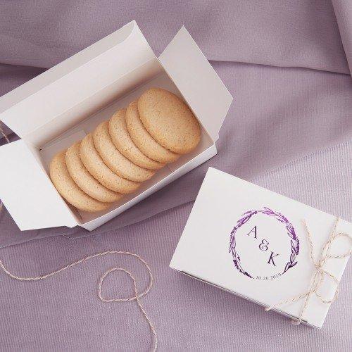 Personalized Wedding Cake Slice Boxes