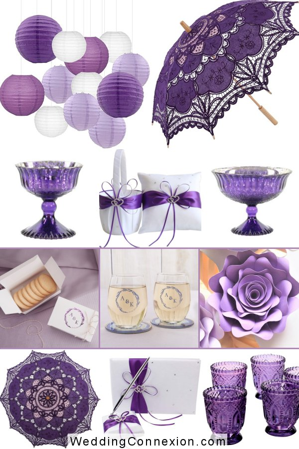 Whimsical Shades Of Purple Wedding Color Scheme | WeddingConnexion.com