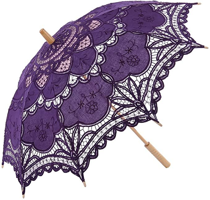 Whimsical Purple Wedding Parasol