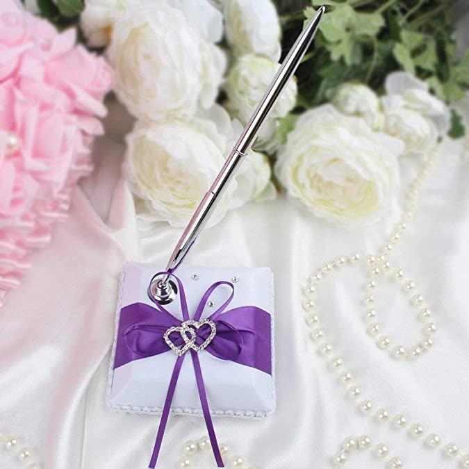 Whimsical Shades Of Purple Wedding Pen set