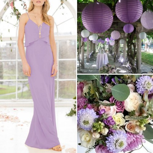Whimsical Shades Of Purple Wedding Theme