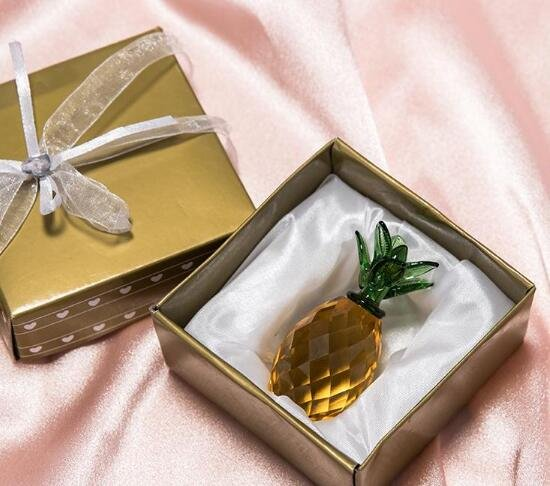 Crystal Pineapple Ornament Wedding Favor