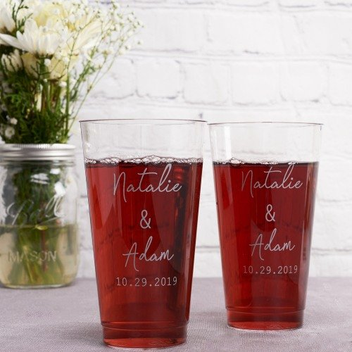 Industrial Chic Clear Plastic Cups