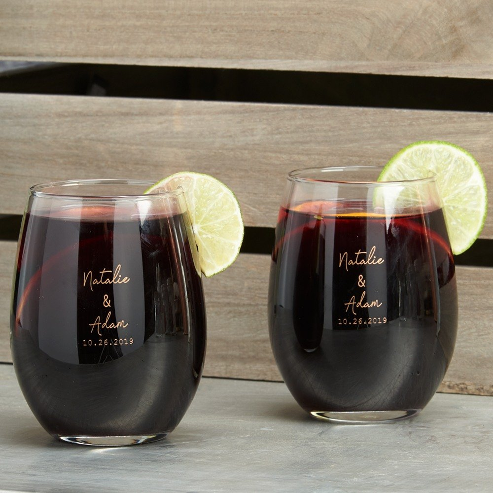 Industrial Chic Stemless Wine Glasses