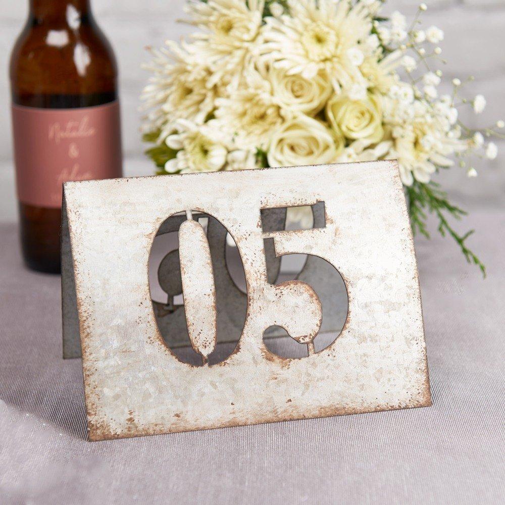Industrial Chic Wedding Metal Table Number