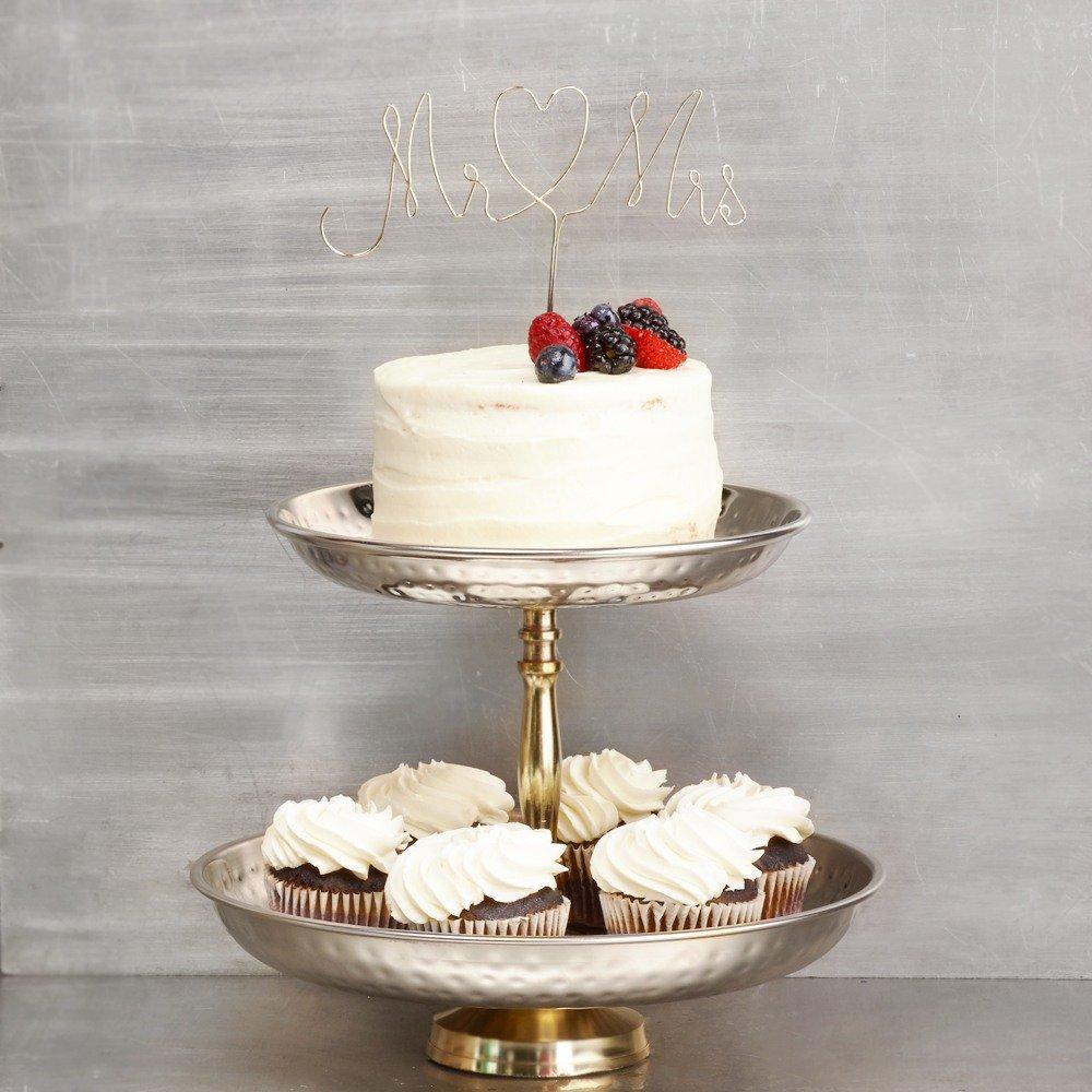 Industrial Script Wedding Cake Topper