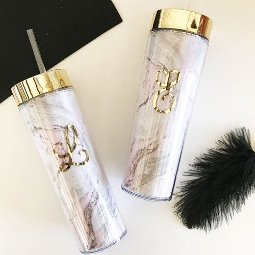 Personalized Marble Tumbler Bridesmaid Gift Ideas