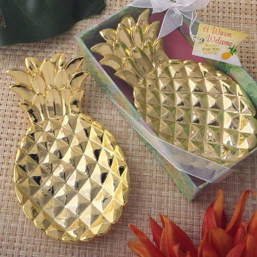Palm and Pineapple Tropical Wedding Theme Pineapple Dish