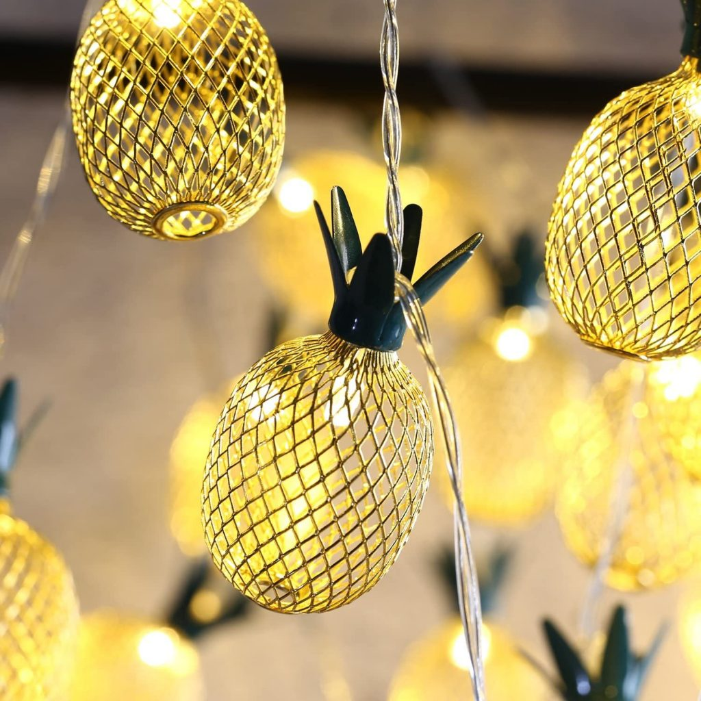Pineapple String Lights Tropical Wedding Decor