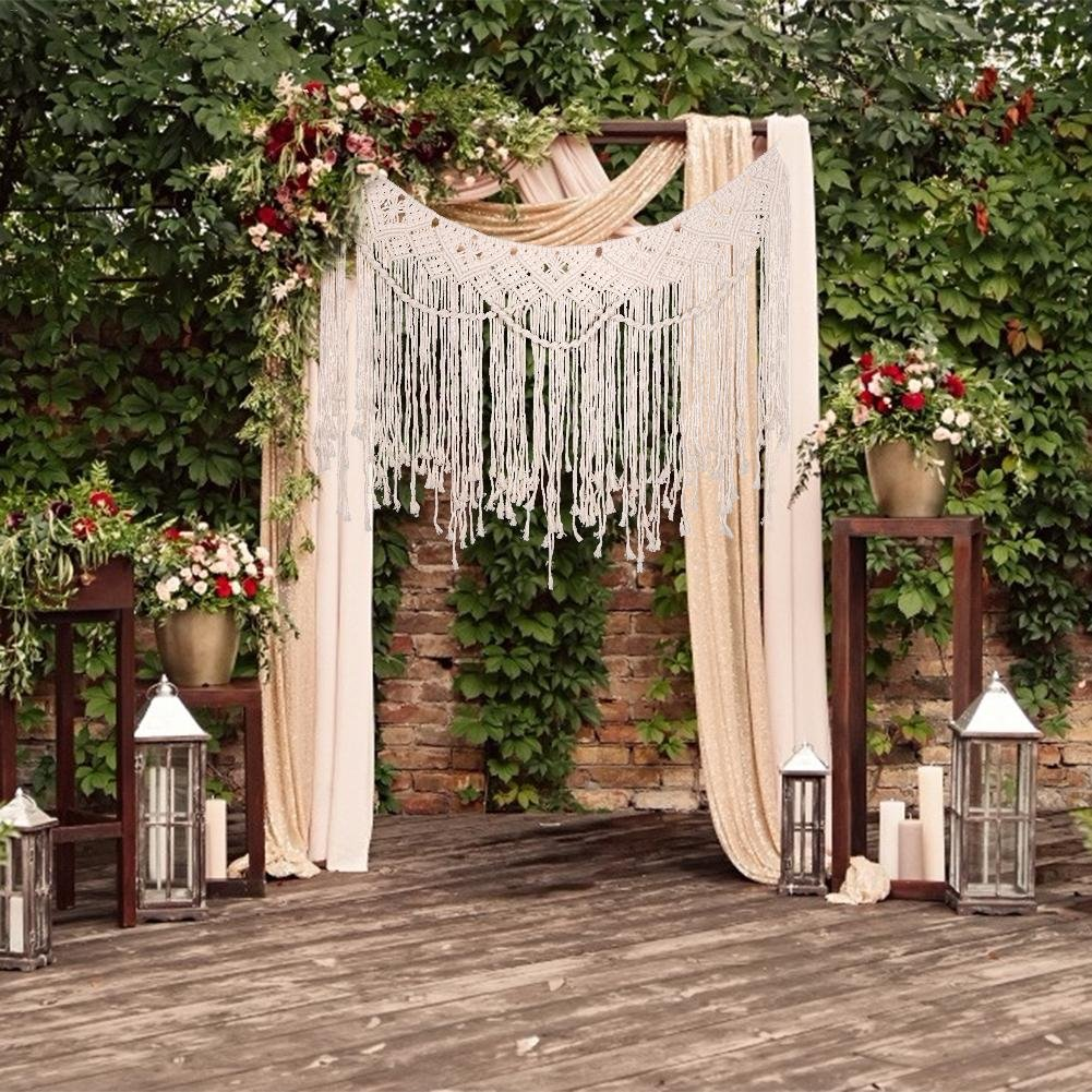 Woven Tapestry Curtain Bohemian Wedding Ceremony Arch Decor