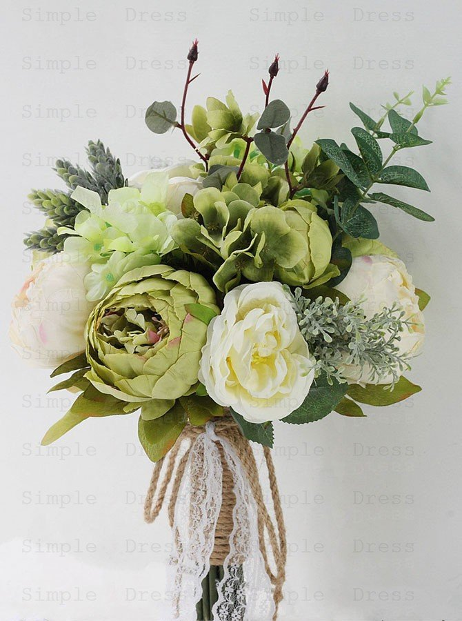 Green Peonies Bridal Bouquet