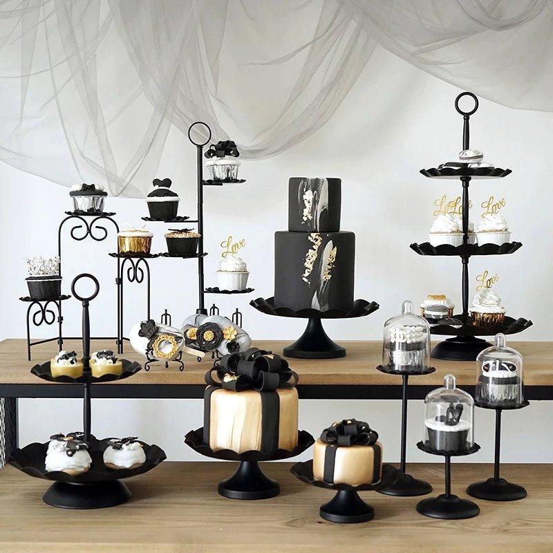 Black Metal Modern Cake Stands