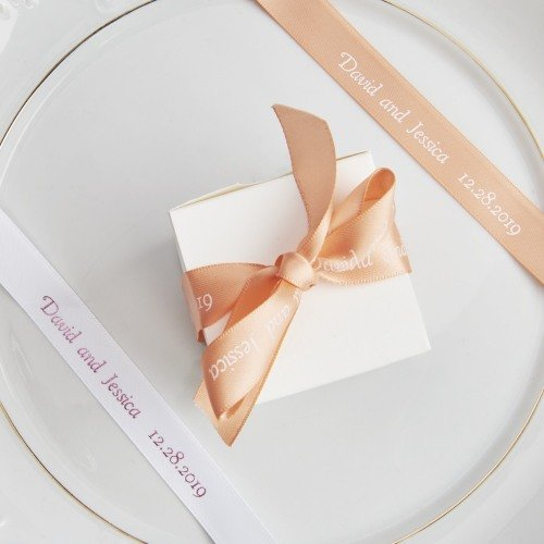 Personalized Double-Faced Satin Favor Ribbon