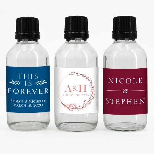 Personalized Glass Hand Bottle Sanitizer Trendy Wedding Favors For 2021
