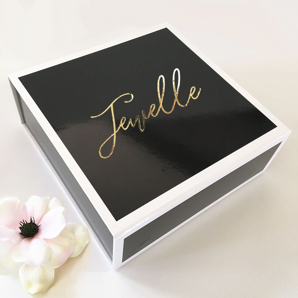 Black Personalized Gift Box wedding trends 2021