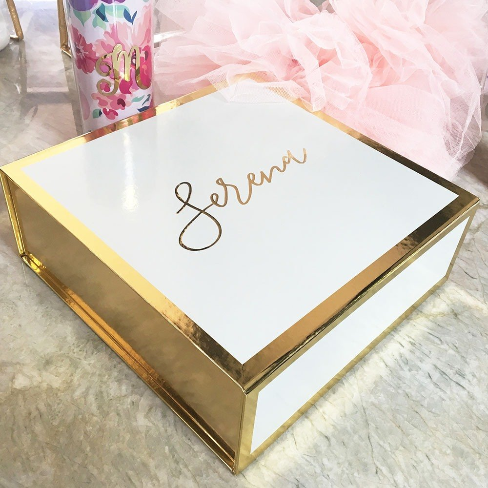White Personalized Gift Box