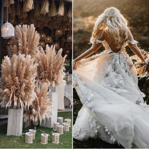 Fairy-tale Pampas Grass Wedding Inspiration