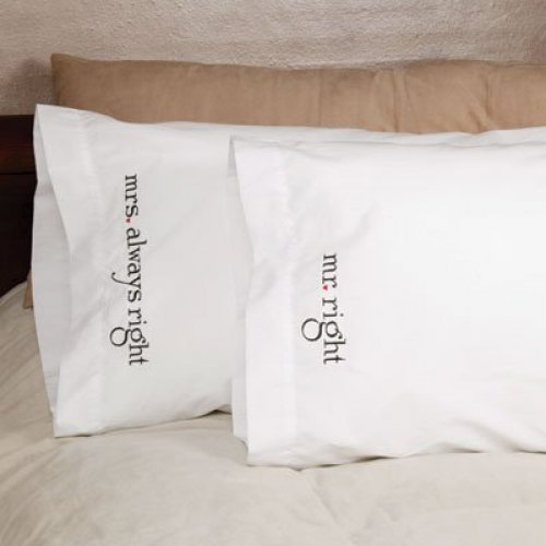 Mr. & Mrs. Pillow Case Wedding Gift Idea