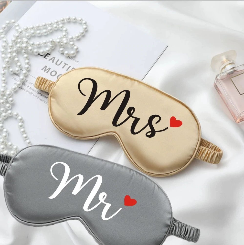 Mr. & Mrs. Sleep Mask Set Wedding Gifts