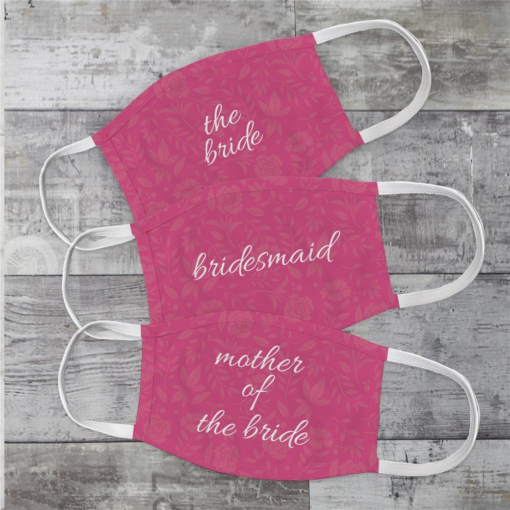 Bridal Party Personalized Face Masks