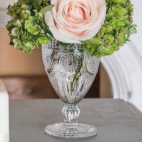 Vintage Glass Goblet Cottagecore Wedding Table Decor