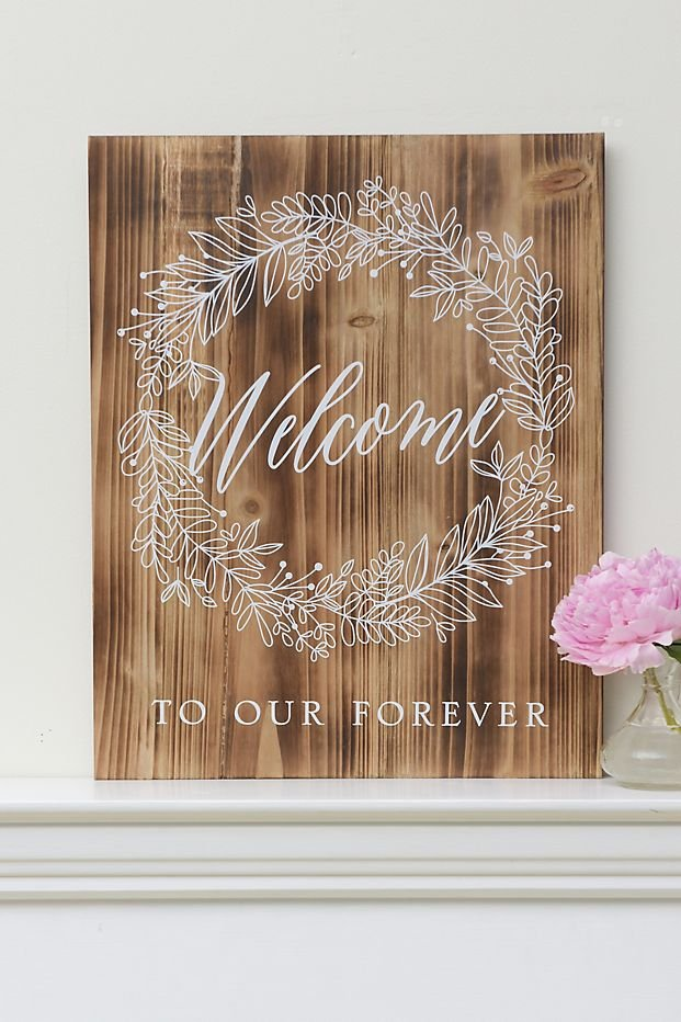 Welcome To Our Forever Wedding Wood Sign
