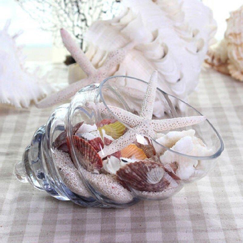 Crystal Sea Shell Glass Vase Wedding Centerpieces