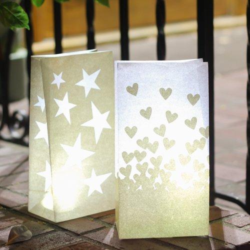 Budget Friendly Gold Luminary Bag Centerpieces